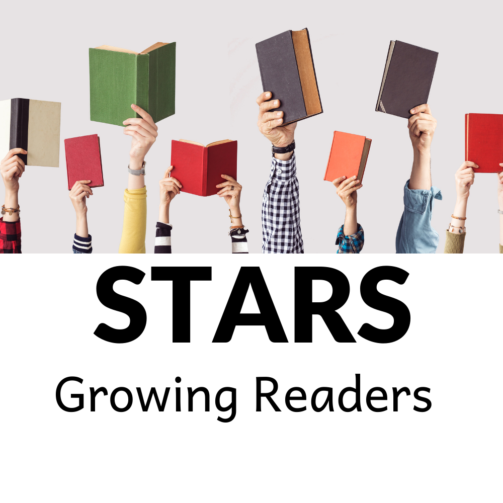 STARS Growing Readers logo with image of children holding up school books